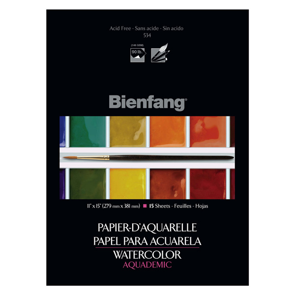 Bienfang Watercolor Pad 11X15 15 Sheets 90Lb