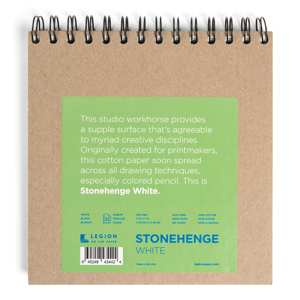 Stonehenge Wired Pad White 7X7 32 Sheets