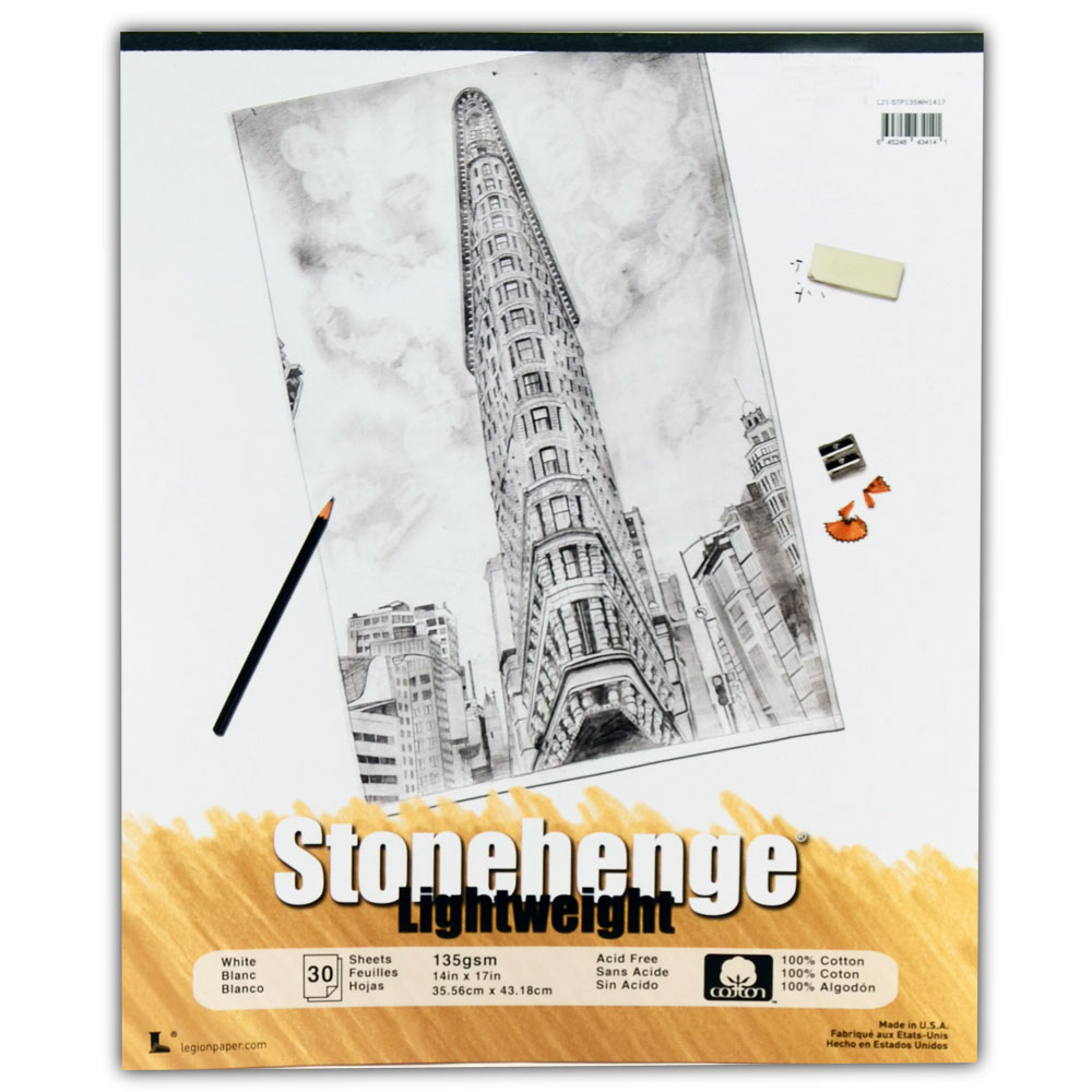 Stonehenge Lghtwght Paper Wht Pad 17X14 Inch