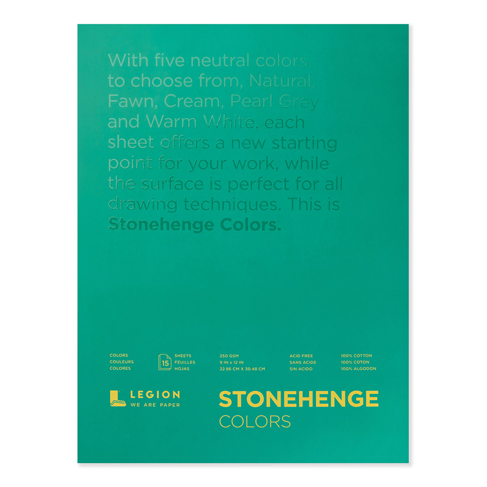 Stonehenge Pad Multicolor 9X12 15 Sheets