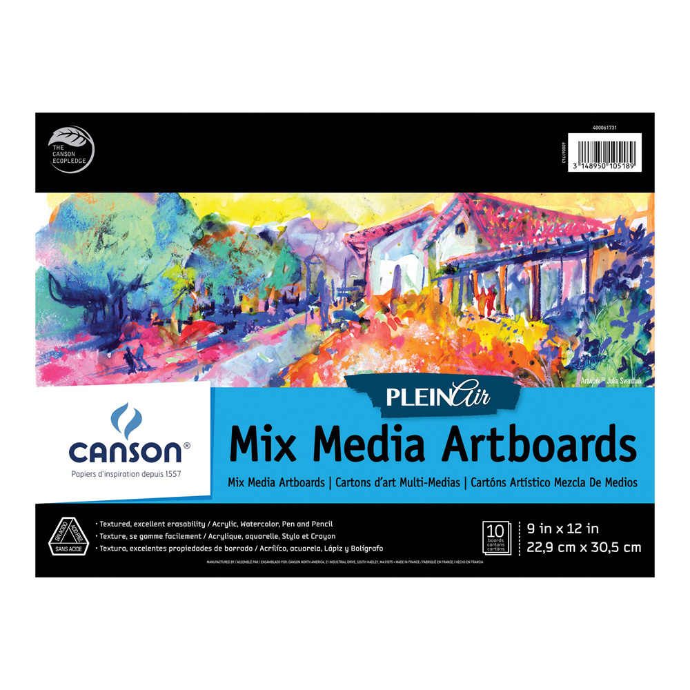 Plein Air Mix Media Artboard 9X12 10 Boards