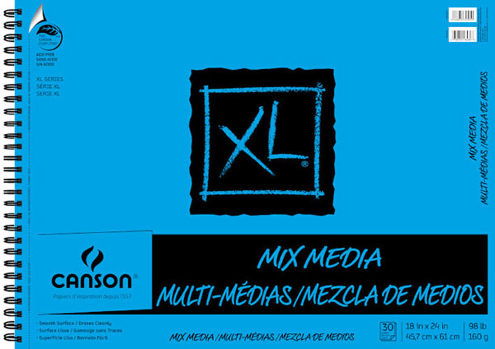Canson Xl Mix Media Pad 18X24