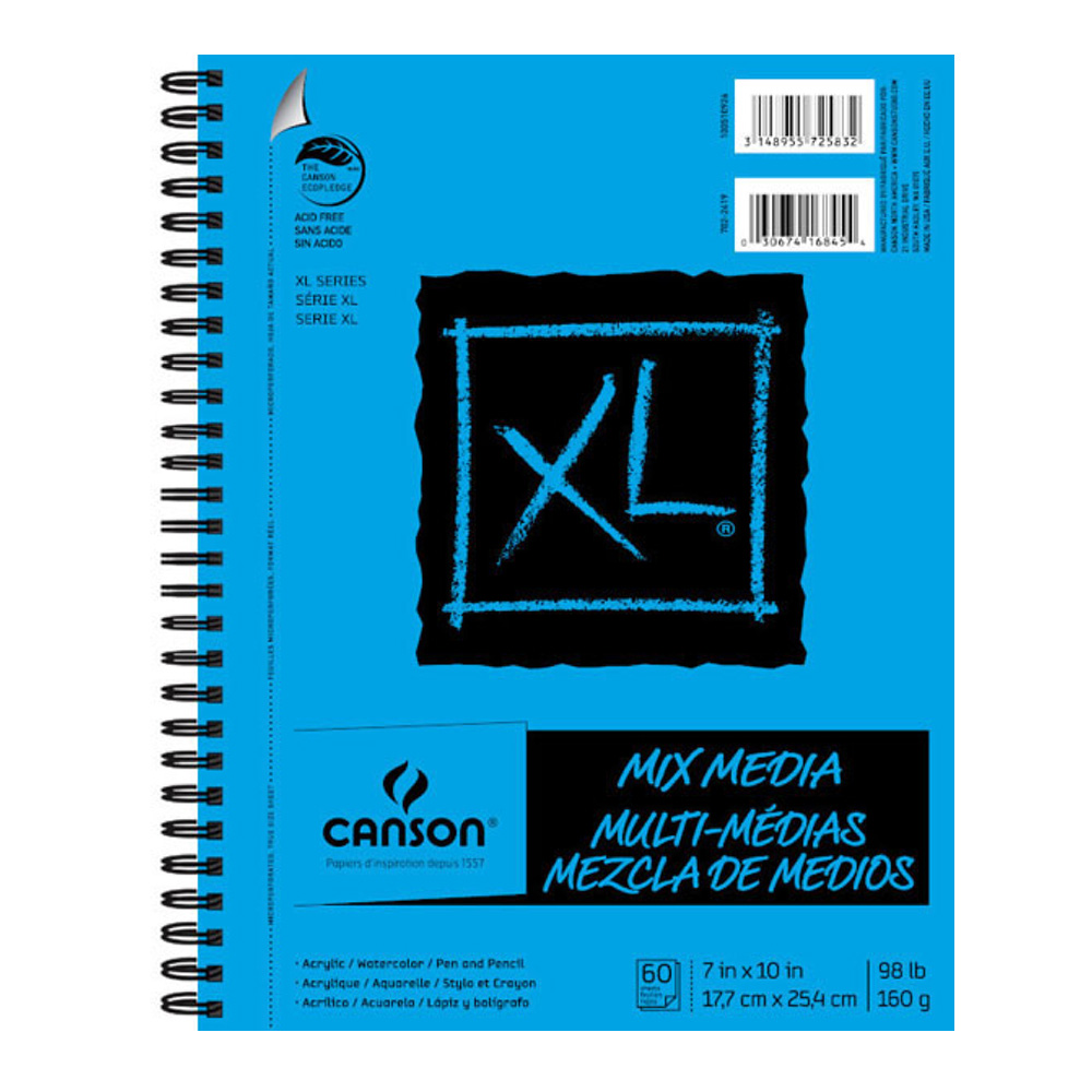 Canson Xl Mixed Media Pad 7X10 6 Pack