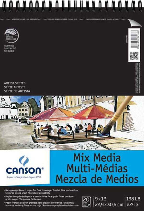Canson Artist Series Mix Media Pad 11X14
