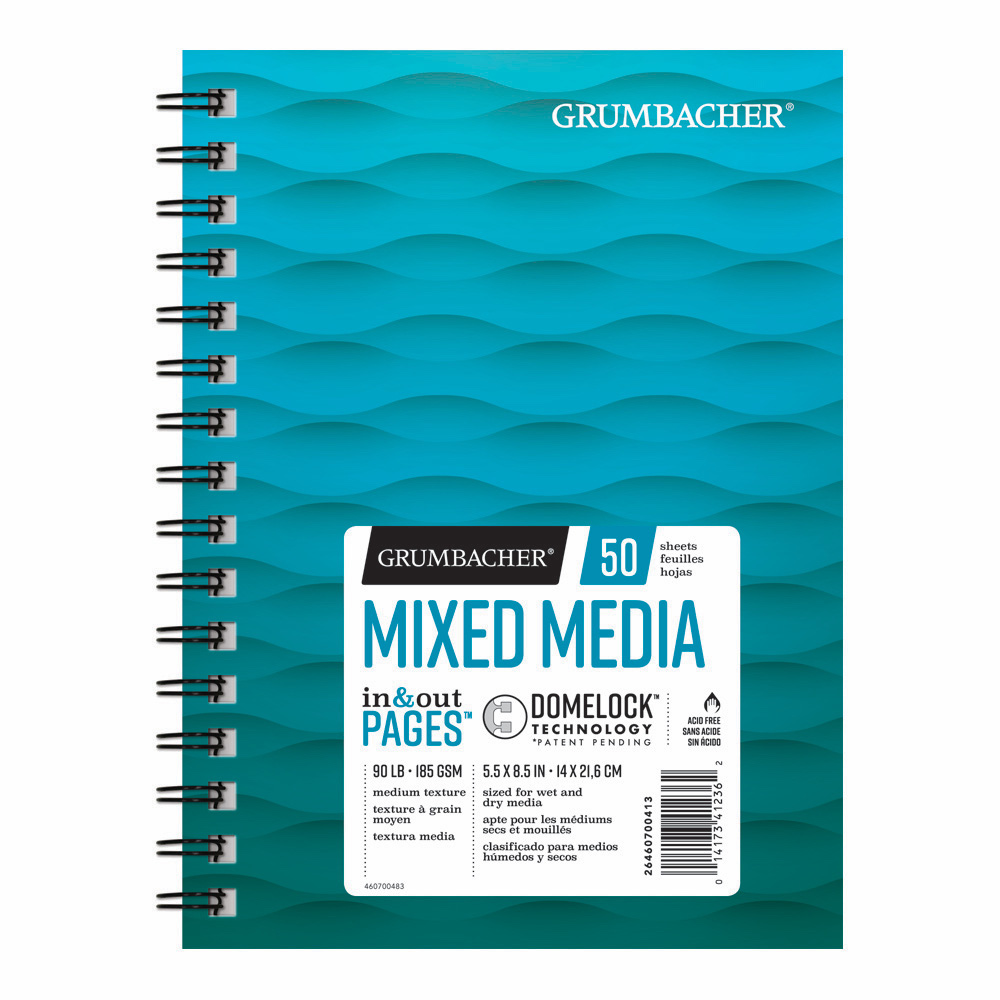 Grumbacher Mixed Media Pad 5.5X8.5 50 Sheets