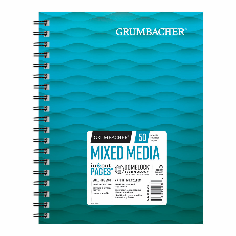 Grumbacher Mixed Media Pad 7X10 50 Sheets