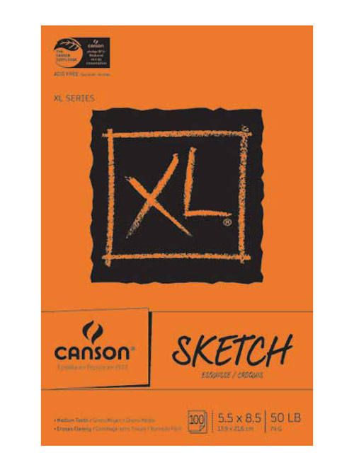 Canson Xl Sketch Pad 5.5X8.5