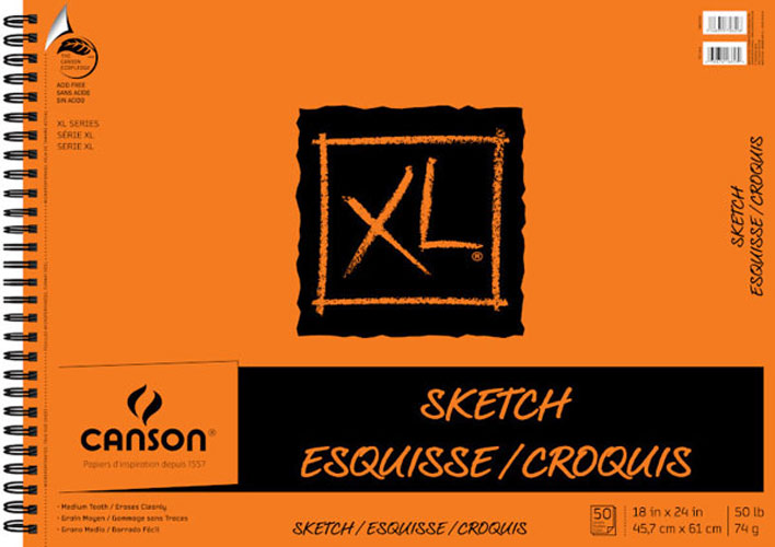 Canson Xl Sketch Pad 18X24
