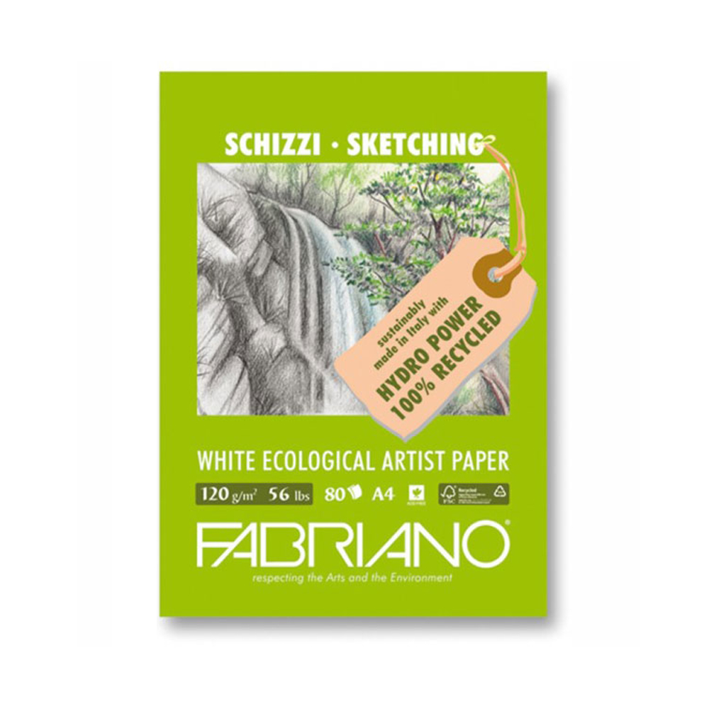 Fabriano Ecowhite Sketch Pad 8.25X11.7 Inches