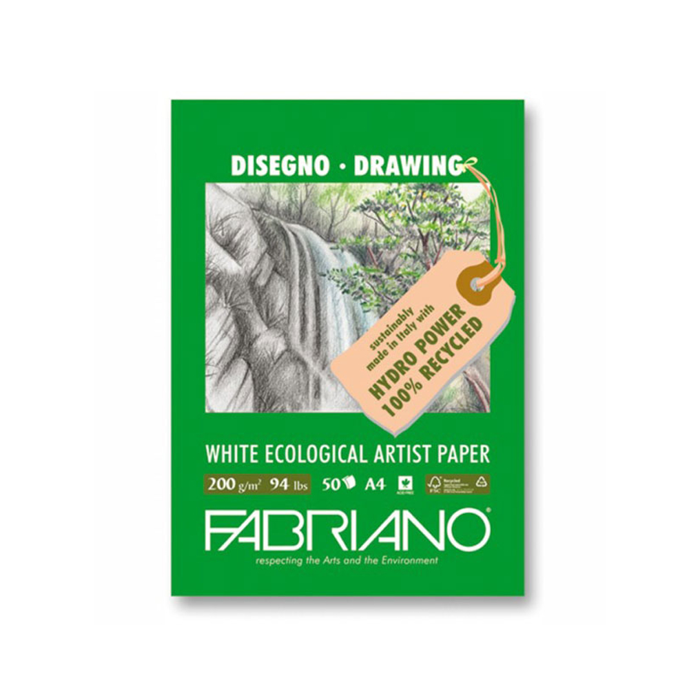 Fabriano Ecowhite Drawing Pad 8.52X11.7 Inche