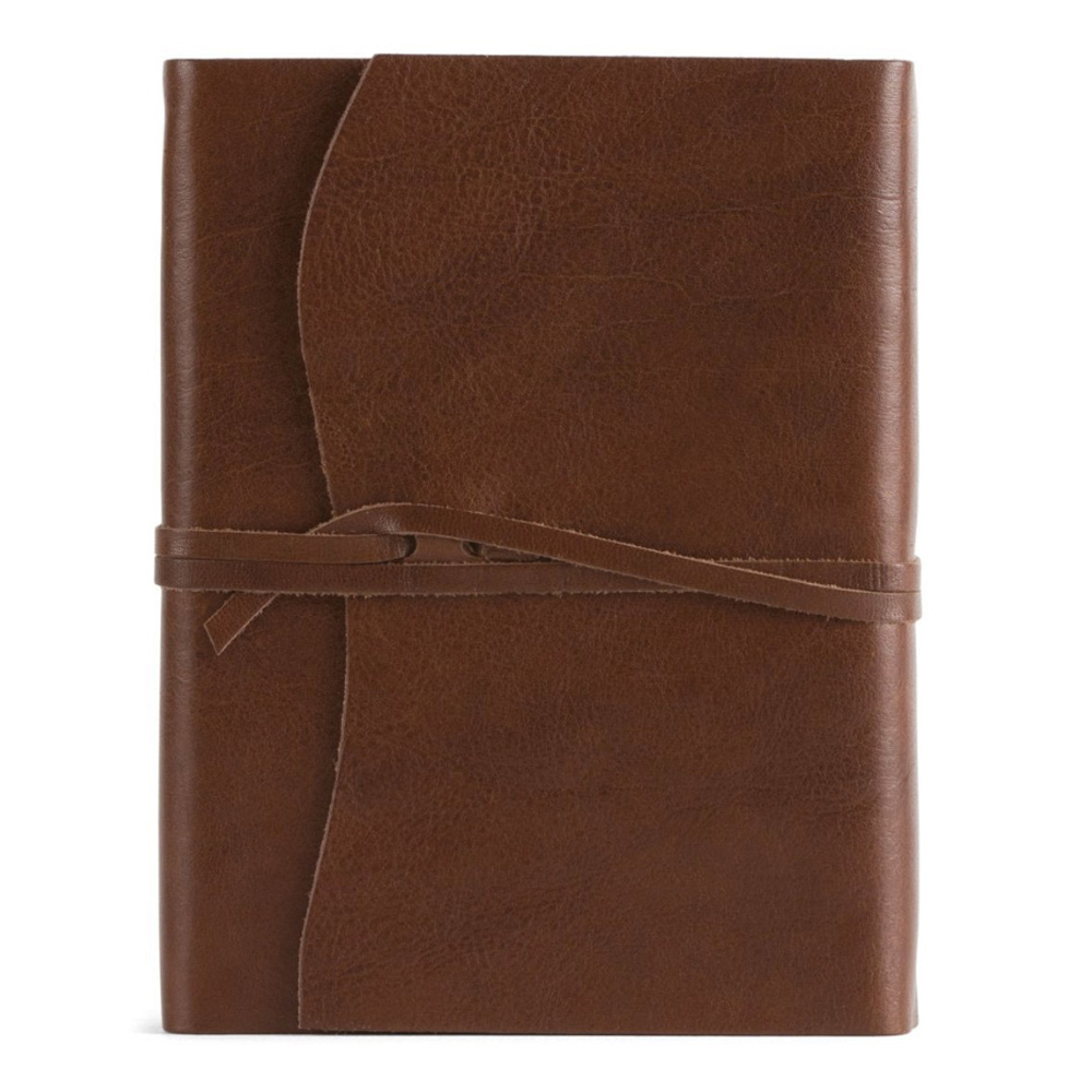 Roma Lussa Leather Journal 5X7 Chocolate