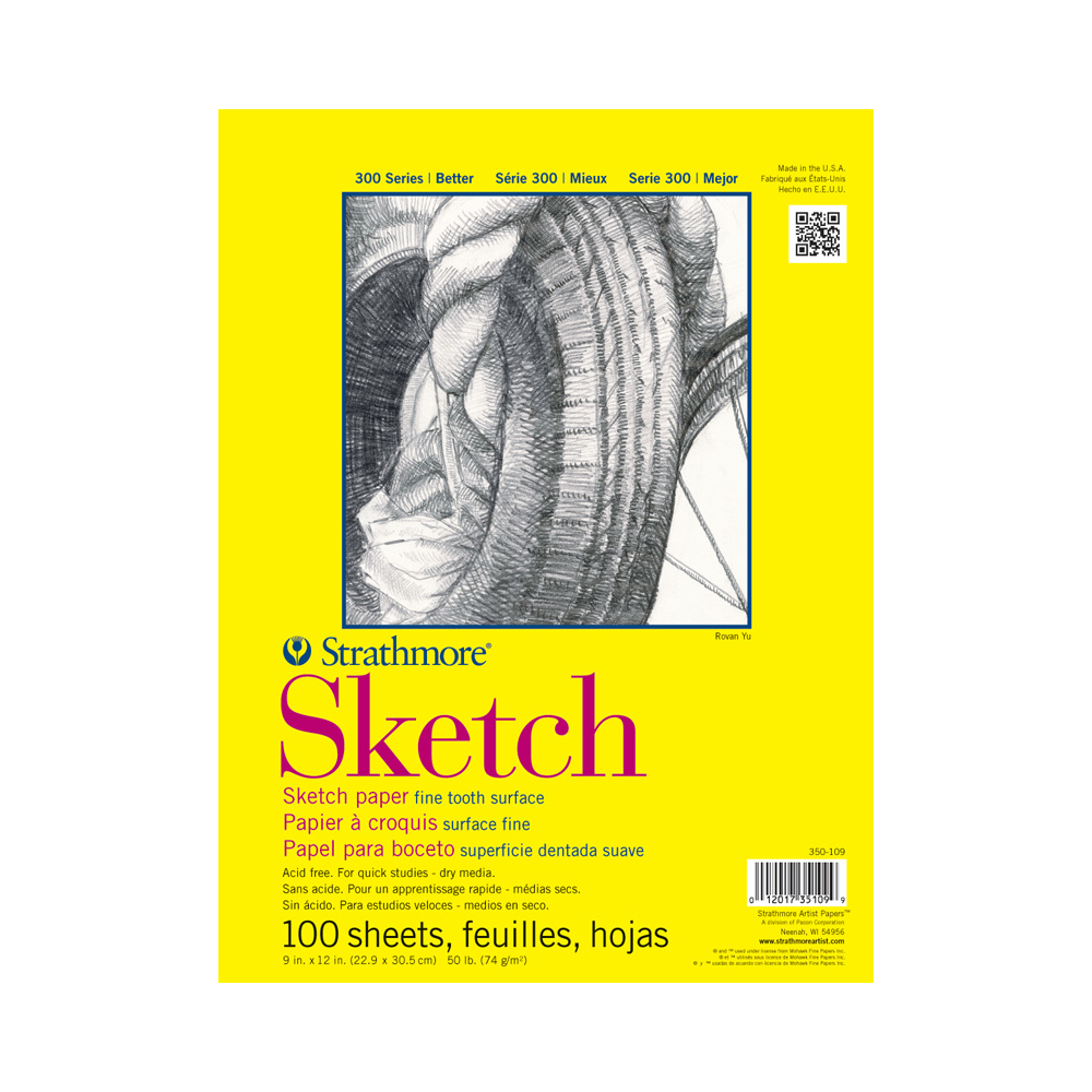 Strathmore 300 Taped Sketch Pad 9X12