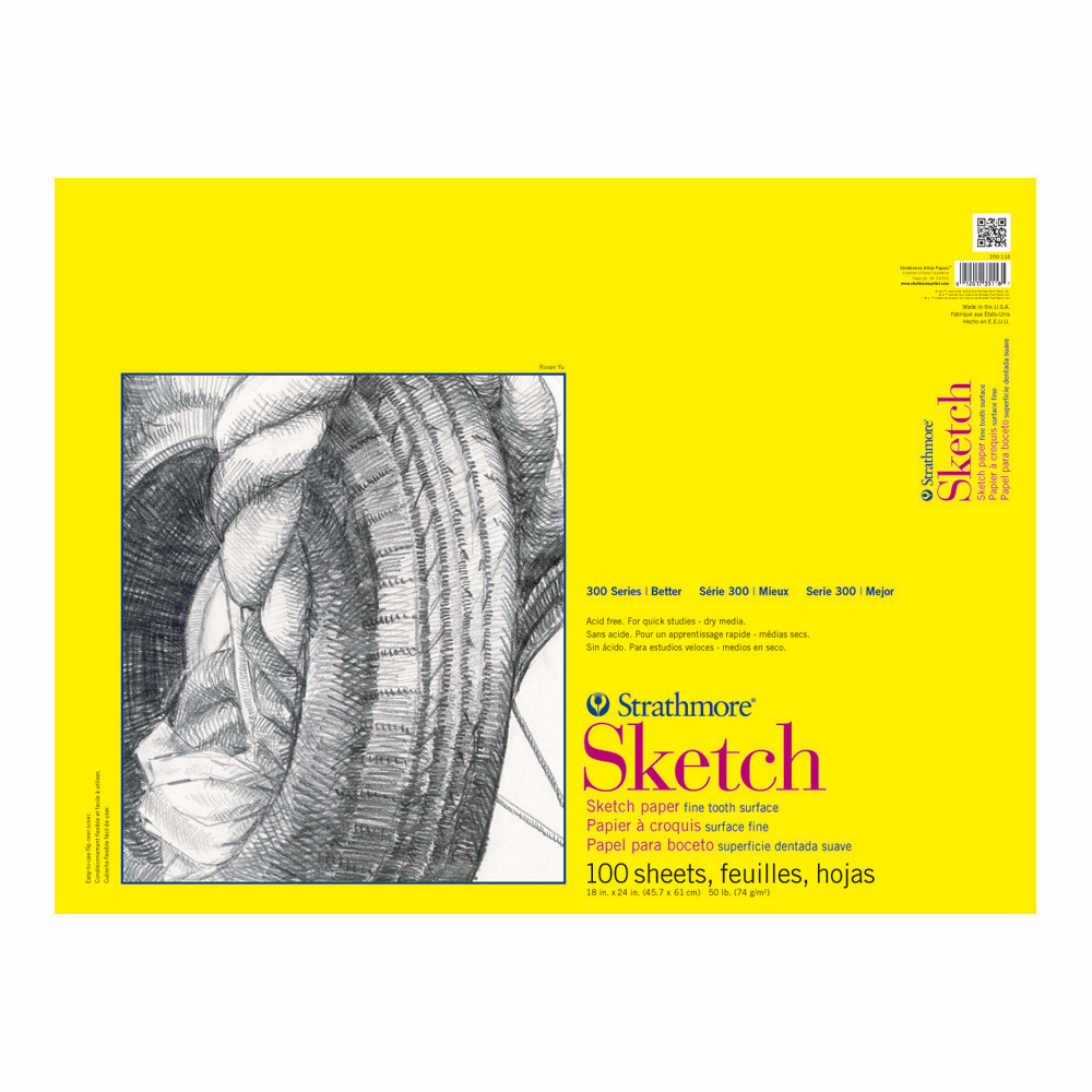 Strathmore 300 Taped Sketch Pad 18X24