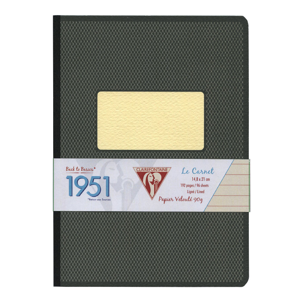 Clairefontaine Clothbound Notebook Black A5