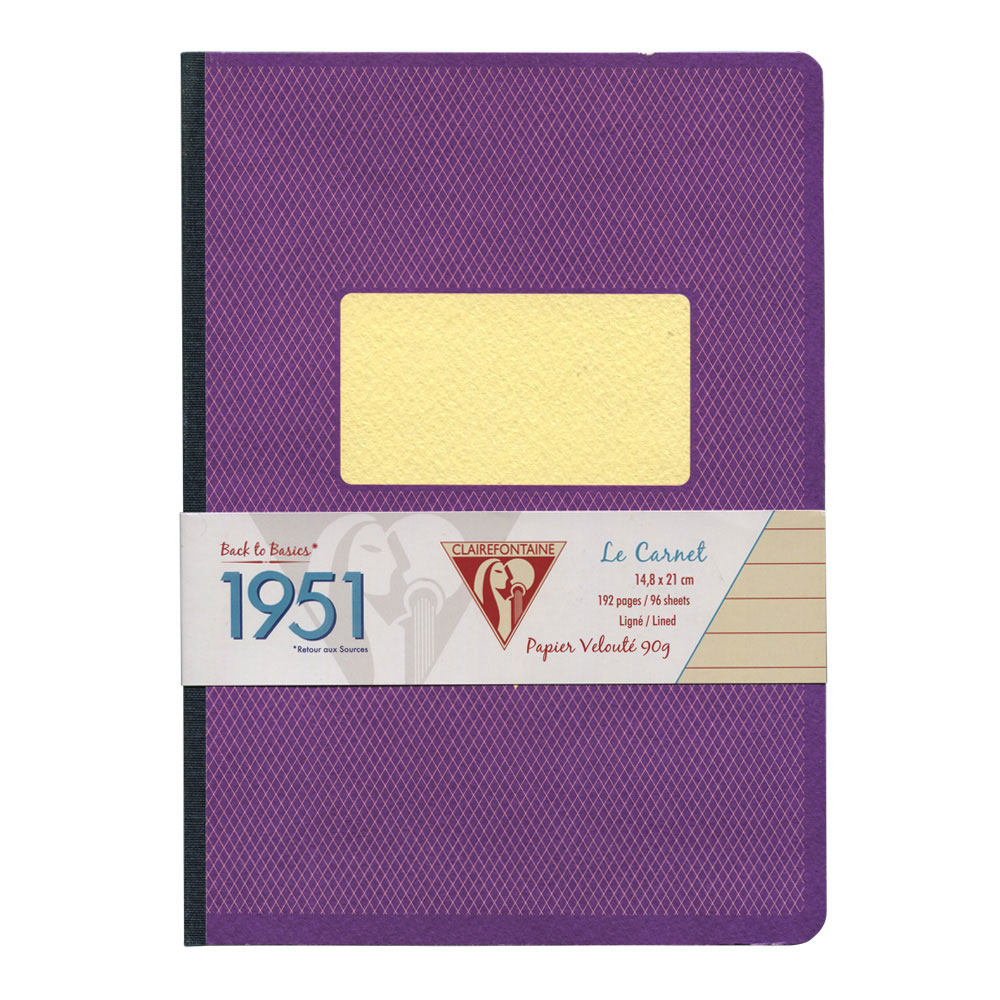 Clairefontaine Clothbound Notebook Violet A5