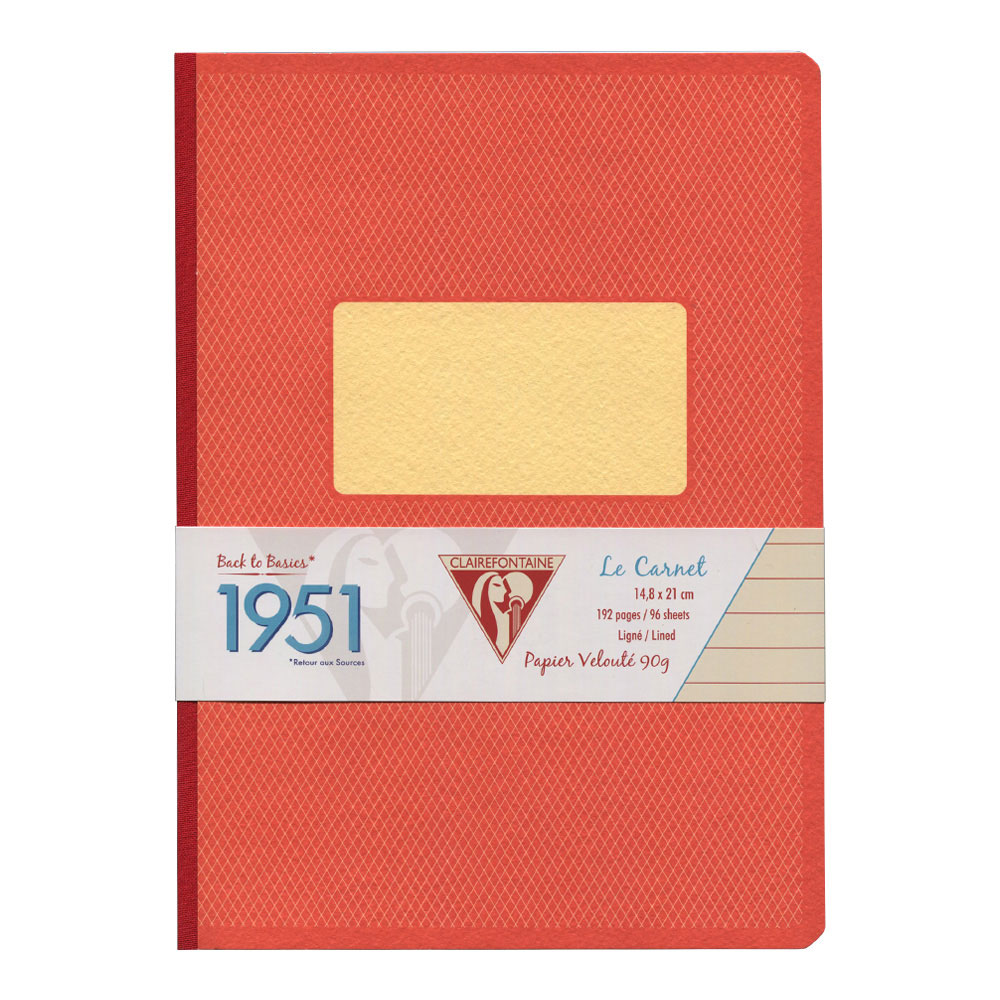 Clairefontaine Clothbound Notebook Red A5