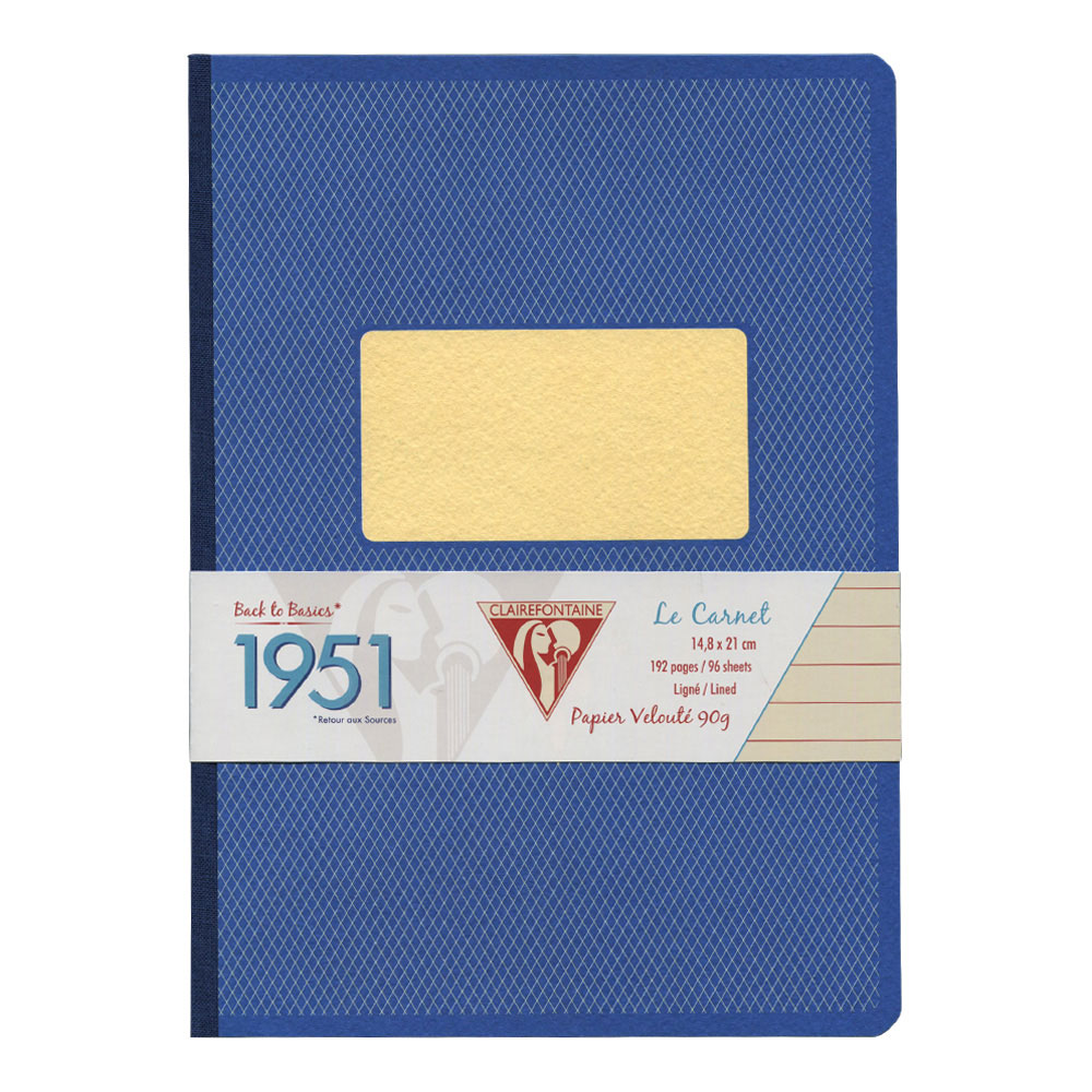 Clairefontaine Clothbound Notebook Blue A5