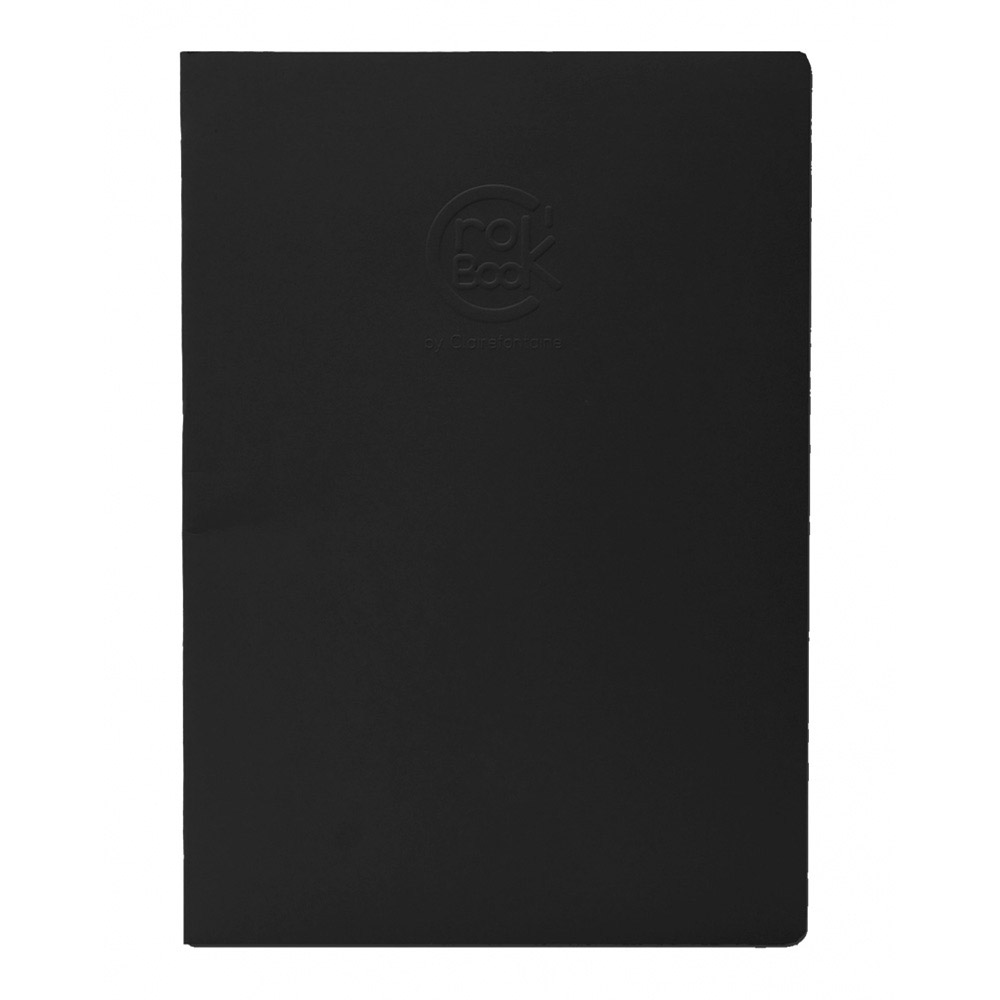 Clairefontaine Crok' Book 6.75X8.75 Black