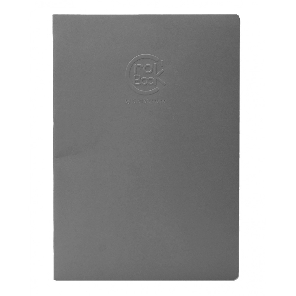 Clairefontaine Crok' Book 6.75X8.75 Gray