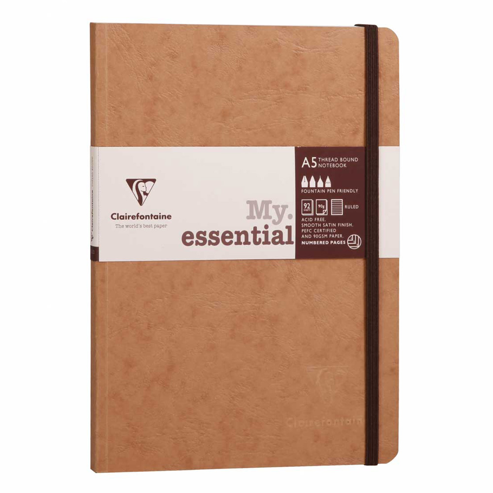 Clairefontaine Essential Notebook Tan A5