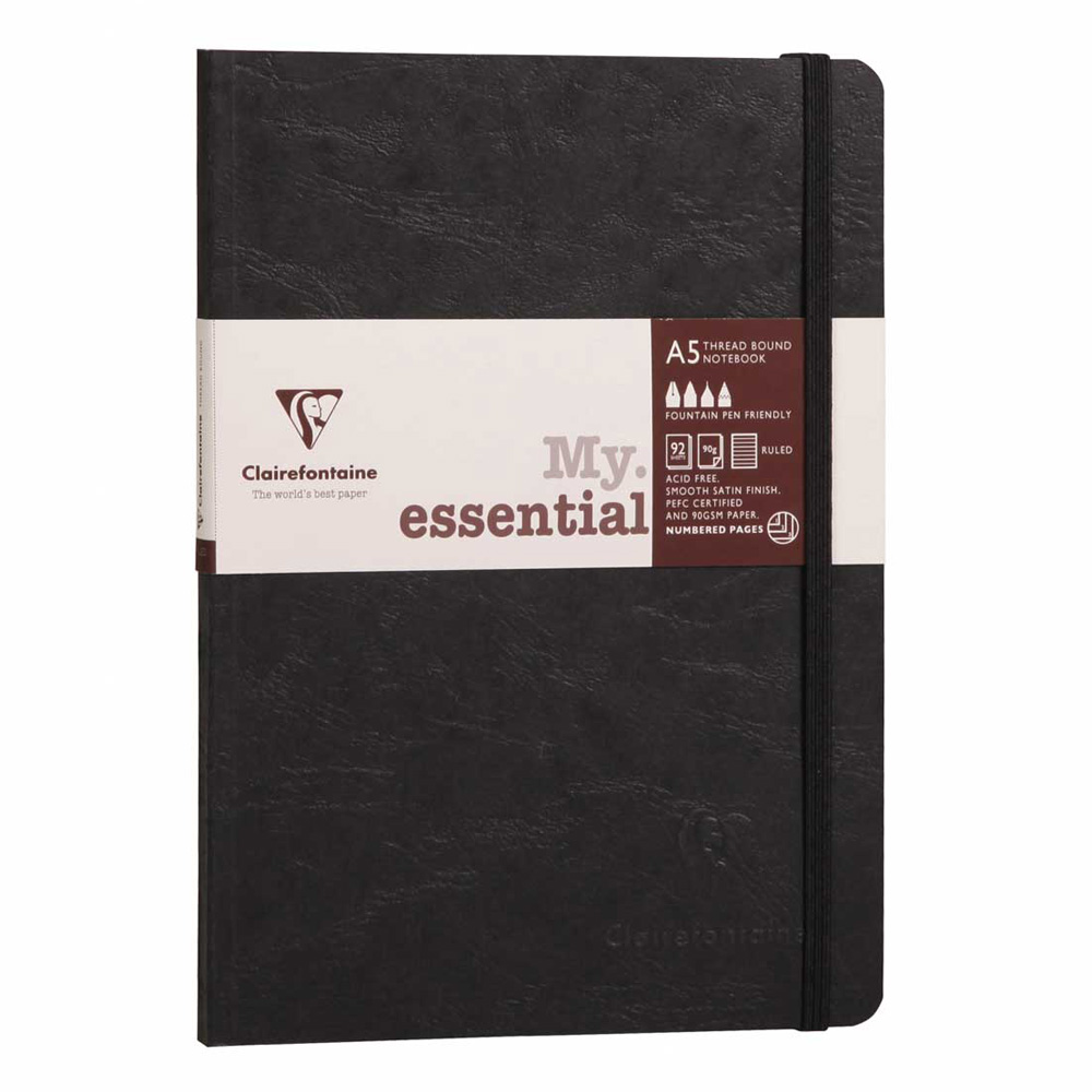 Clairefontaine Essential Notebook Black A5