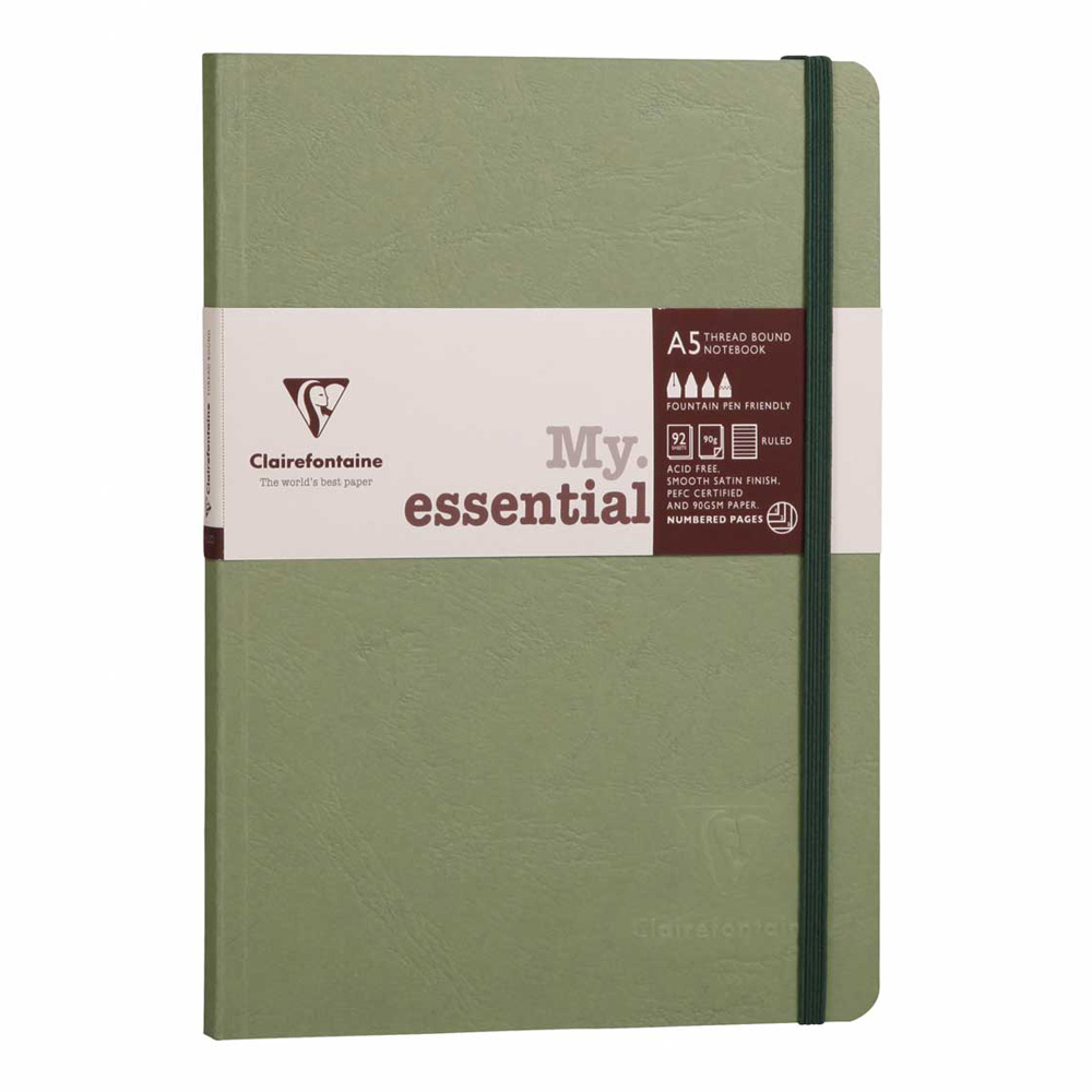 Clairefontaine Essential Notebook Green A5