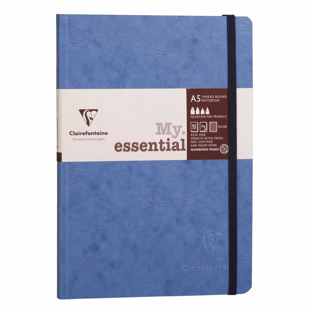 Clairefontaine Essential Notebook Blue A5