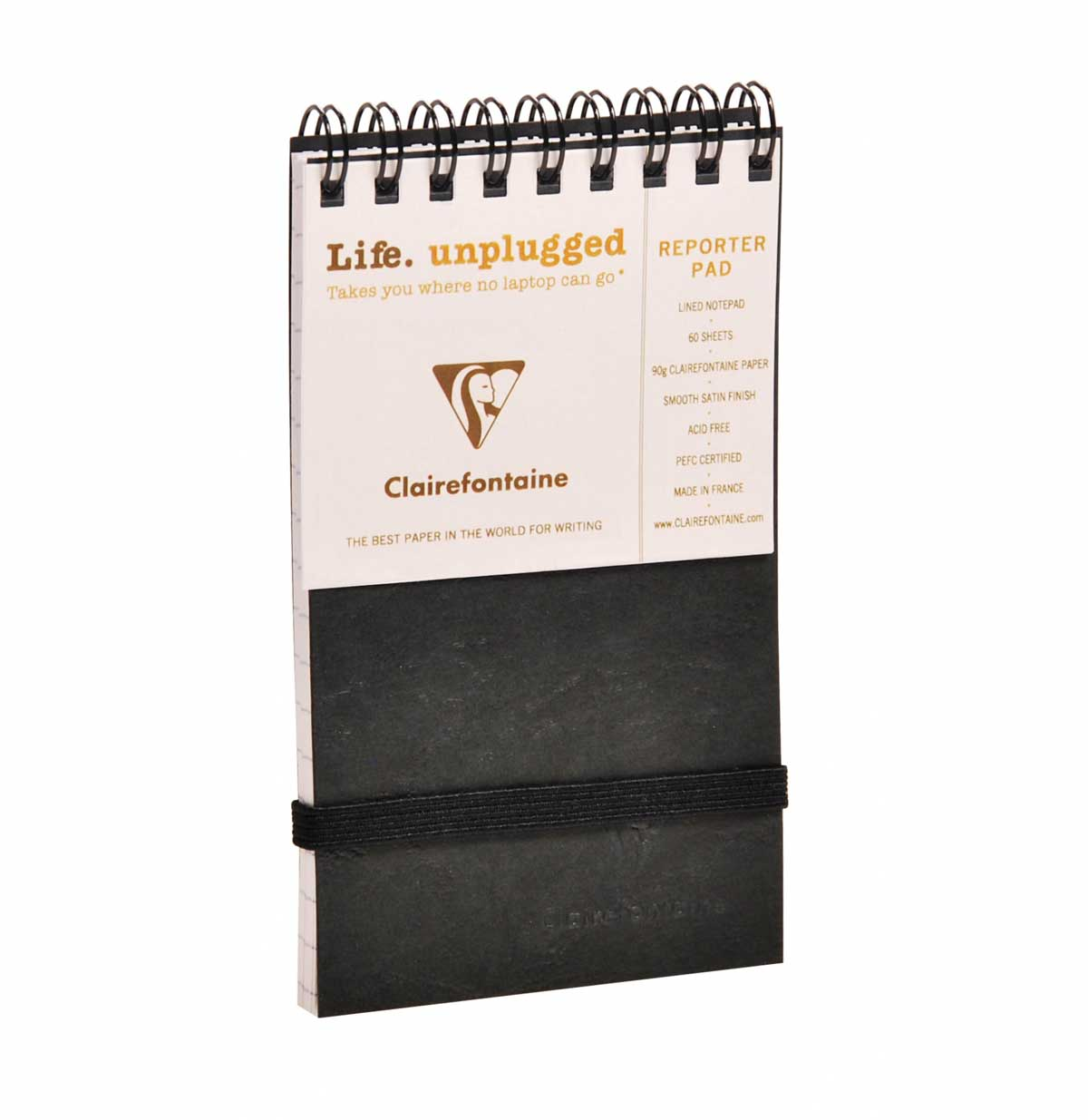 Clairefontaine Reporter Black 3X5 Lined