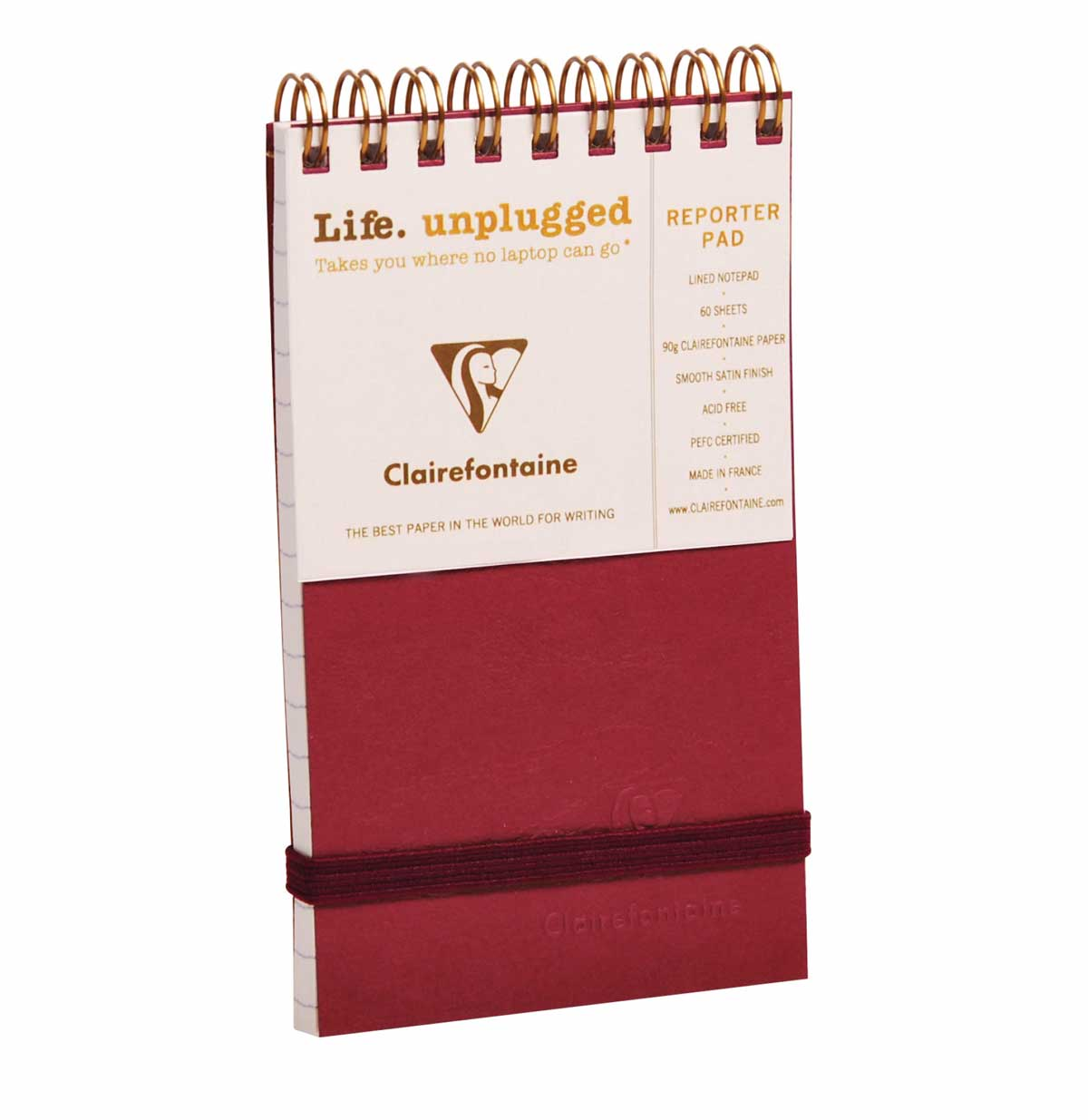 Clairefontaine Reporter Red 3X5 Lined
