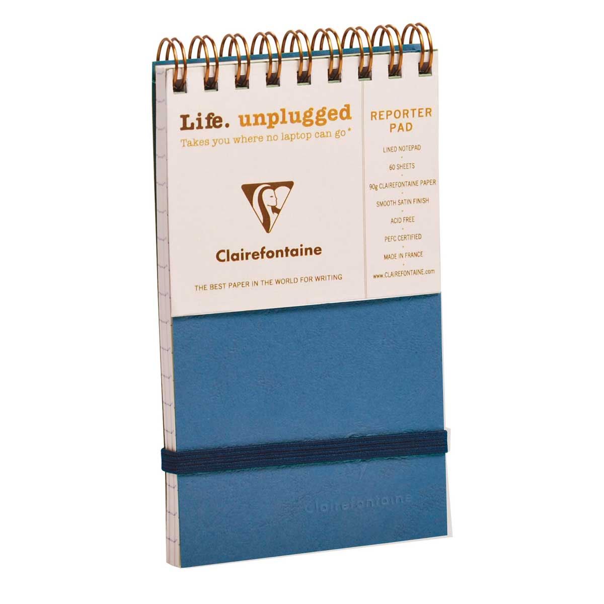 Clairefontaine Reporter Blue 3X5 Lined