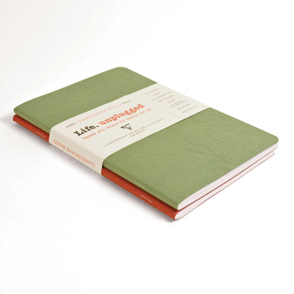 Clairefontaine Sb Duo Red/Green 5.75X8.25