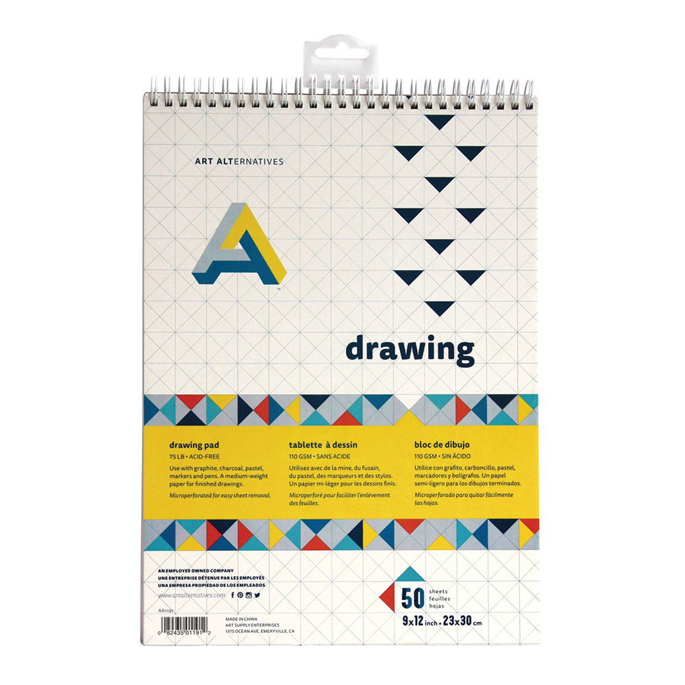 AA Spiral Bound Drawing Pad 9X12