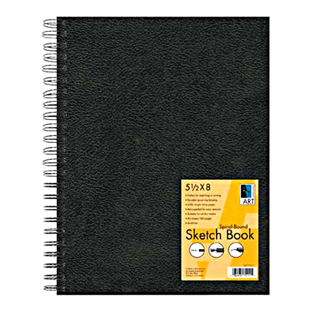 Black Wirebound Sketch Book 11X14