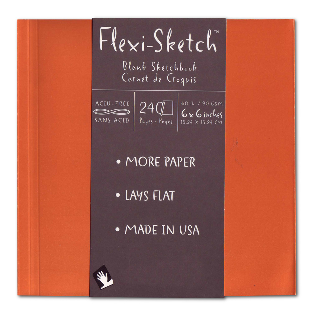 Flexi-Sketch Book 6X6 Mandarin
