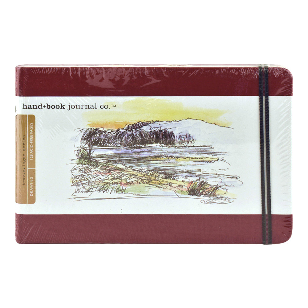 Travel Series Sketch 5.5X8.5 Landscape Red