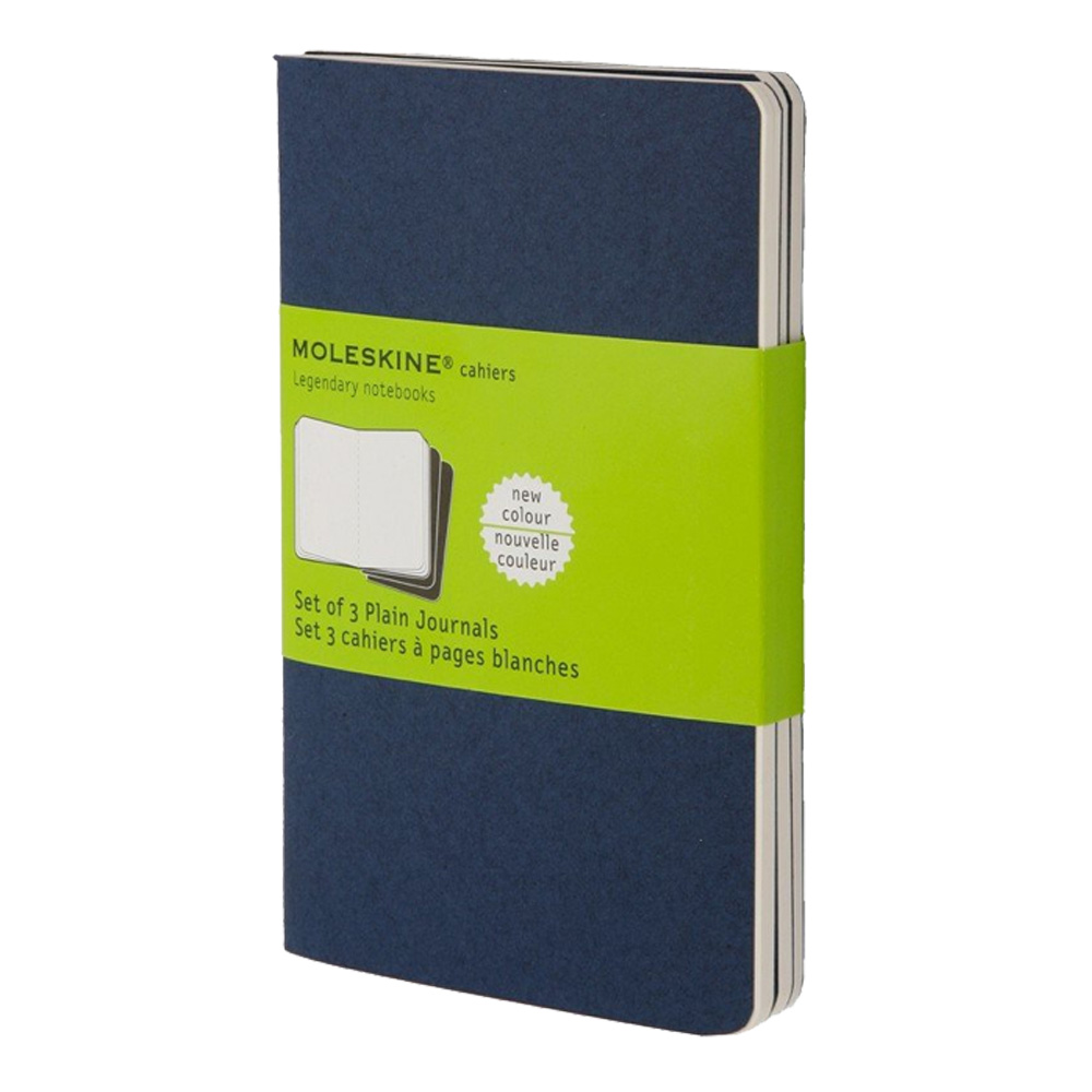 Moleskine Large Cahier Plain Navy Set/3