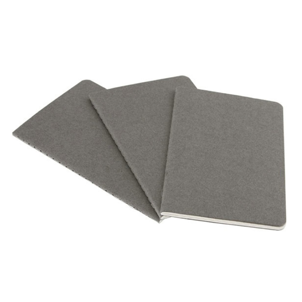 Moleskine Large Cahier Plain Gray Set/3