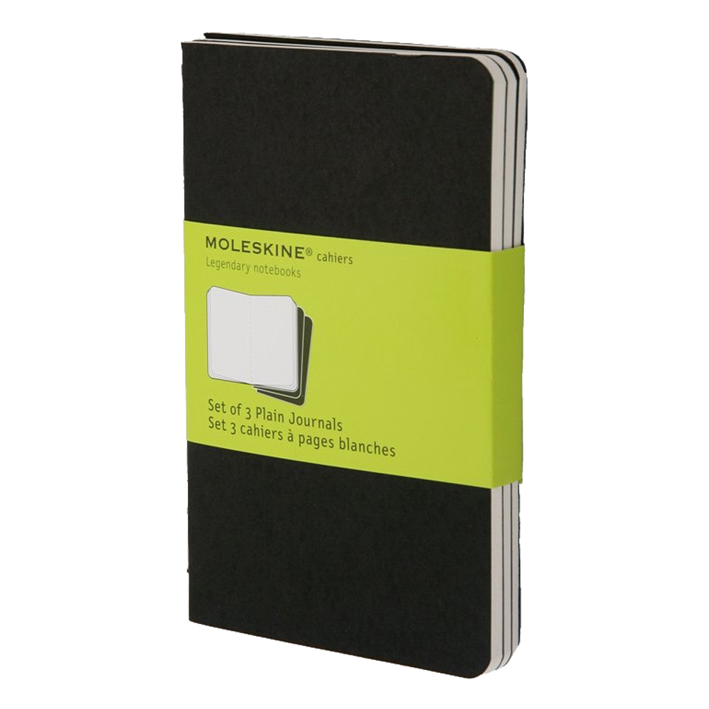 Moleskine Pocket Cahier Plain Black Set/3