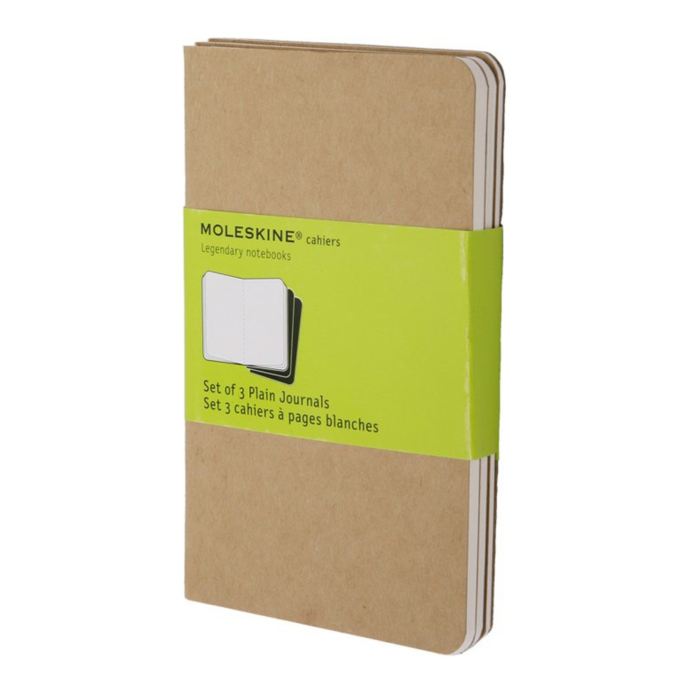 Moleskine Pocket Cahier Plain Kraft Set/3