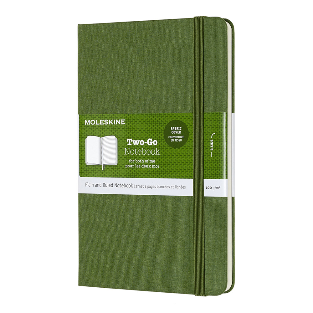 Moleskine Two-Go Notebook Grass Green