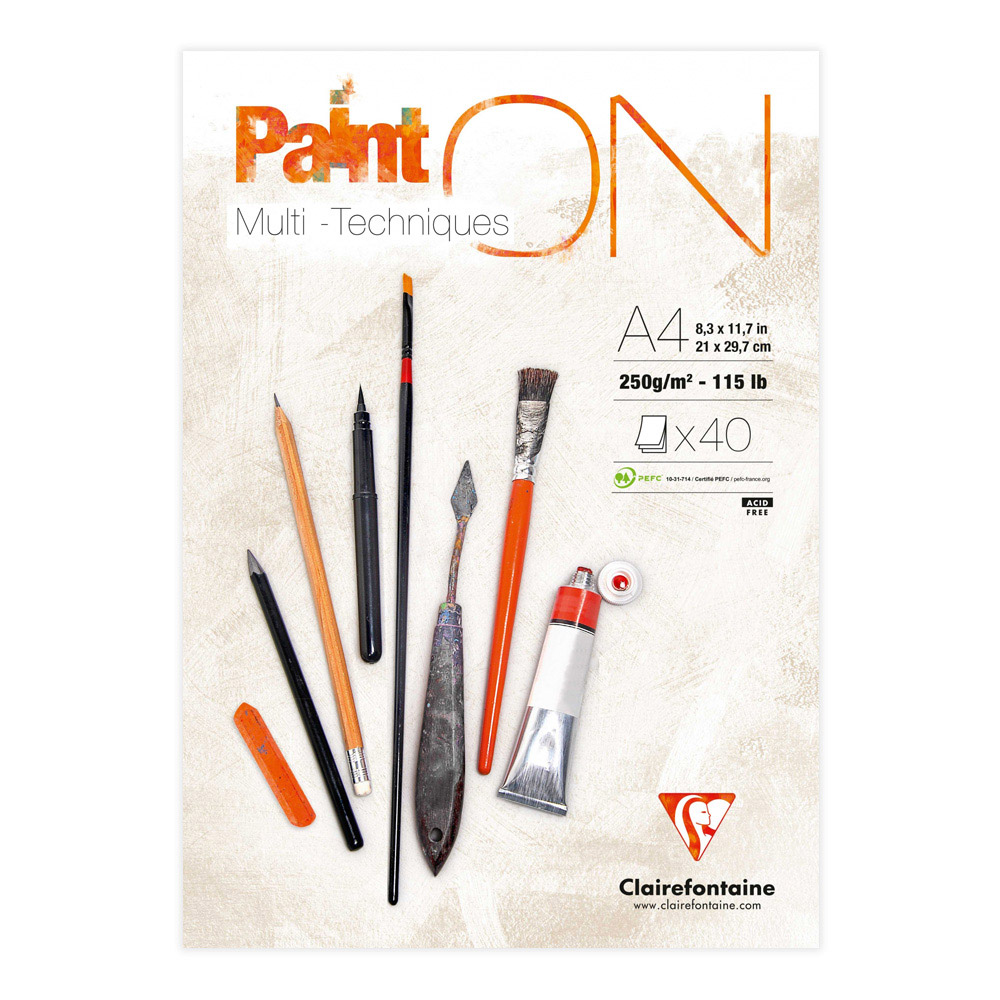 Paint On! Sketch Pad 8X12 White Paper