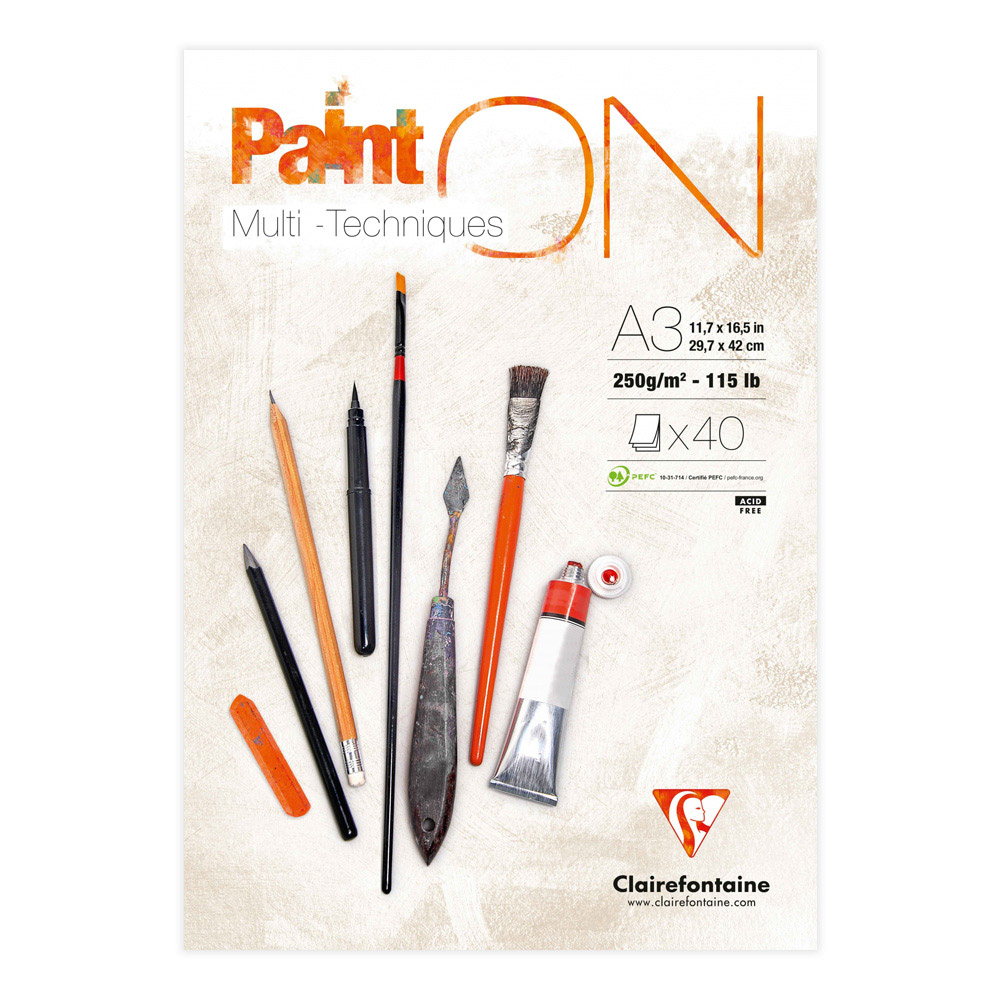 Paint On! Sketch Pad 12X17 White Paper