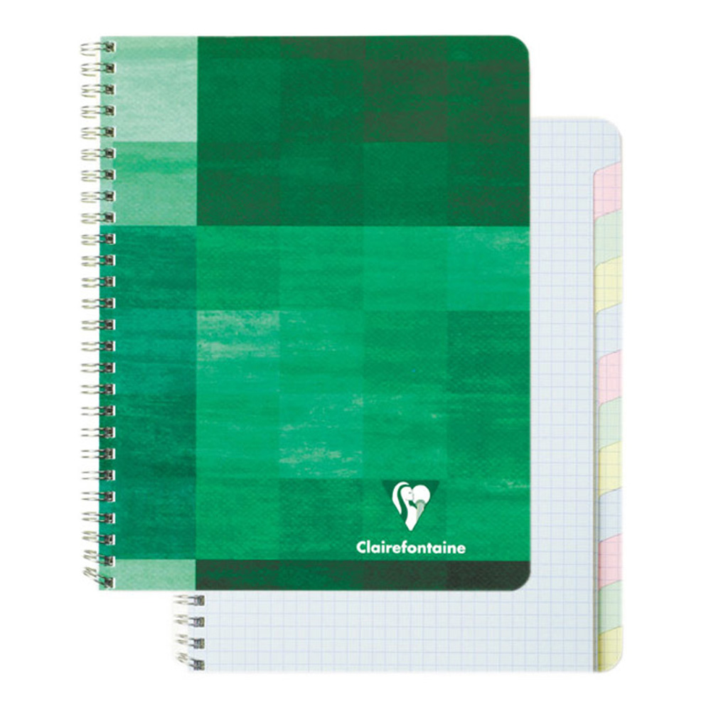 Clairefontaine Wire Book 6.75X8.75 Graph/Tabs