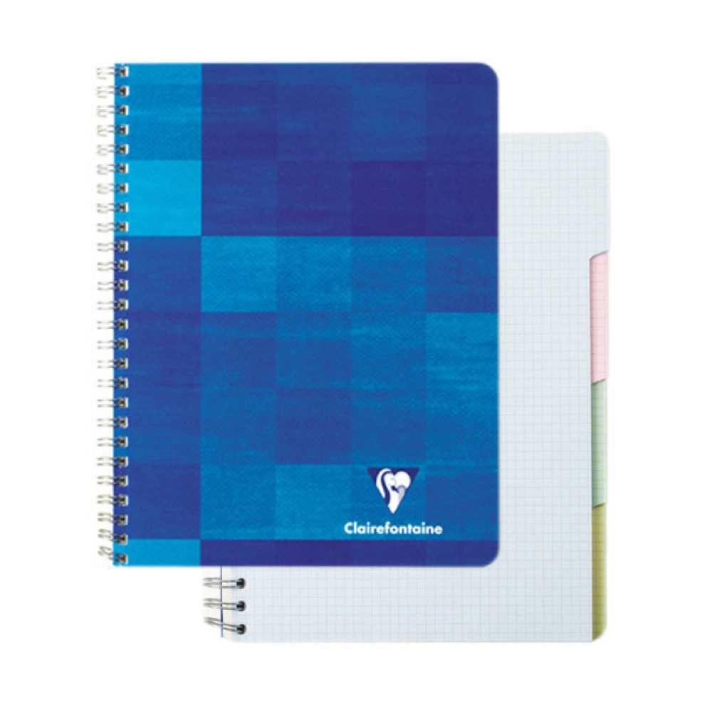 Clairefontaine Wire Bk 8.25X11.75 Graph/Tabs