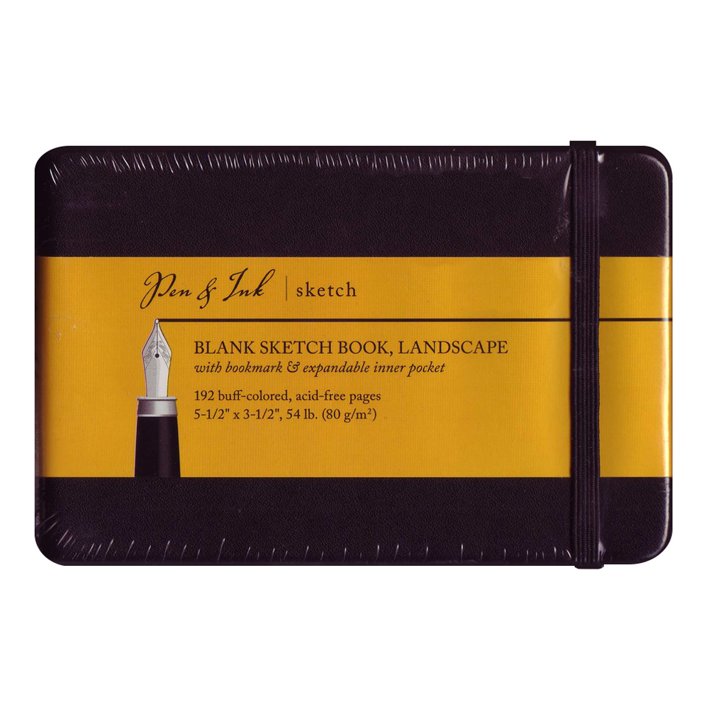 Pen & Ink Notebook 5.5X3.5Ls Blank Med Wt