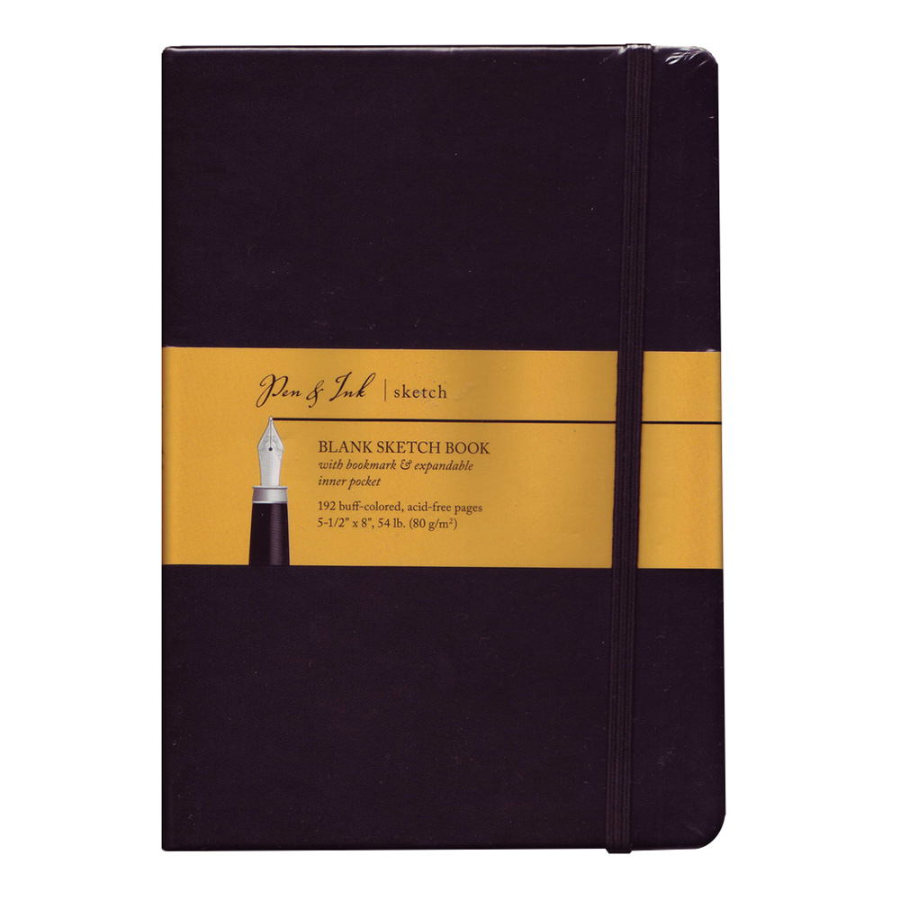 Pen & Ink Notebook 5.5X8 Blank Medium Wt