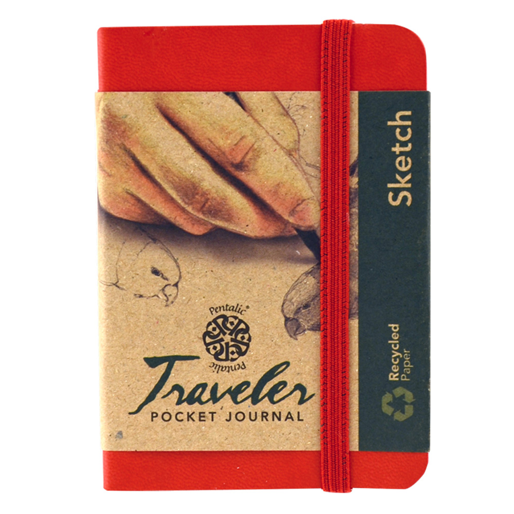 Travelers Pocket Journal 4X3 Red