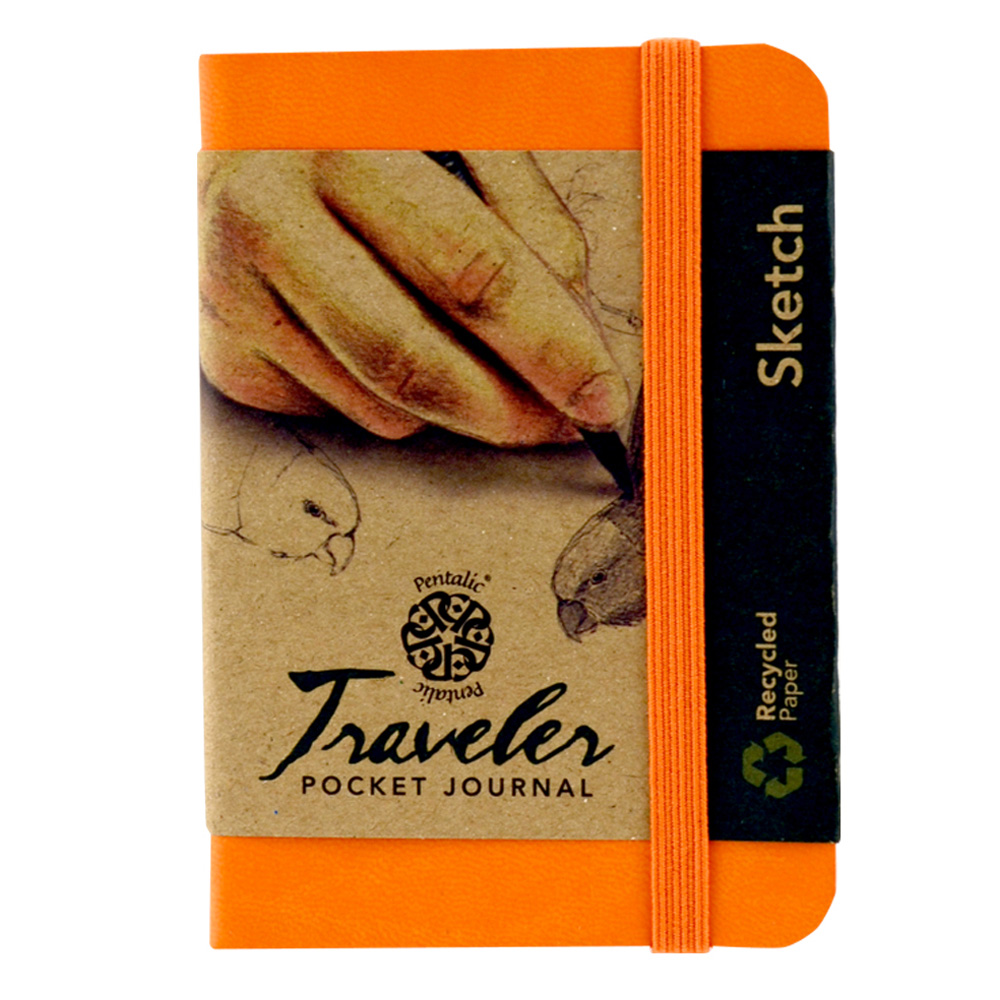 Travelers Pocket Journal 4X3 Orange