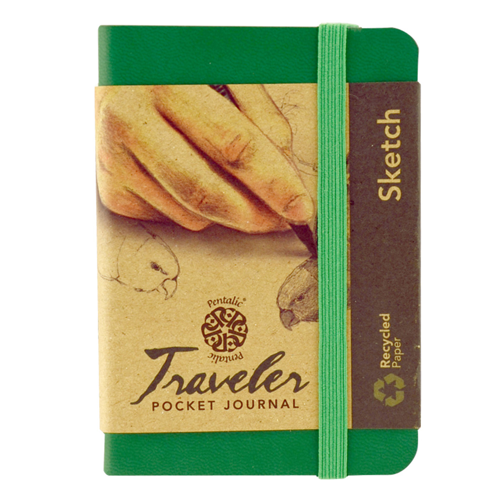 Travelers Pocket Journal 4X3 Green