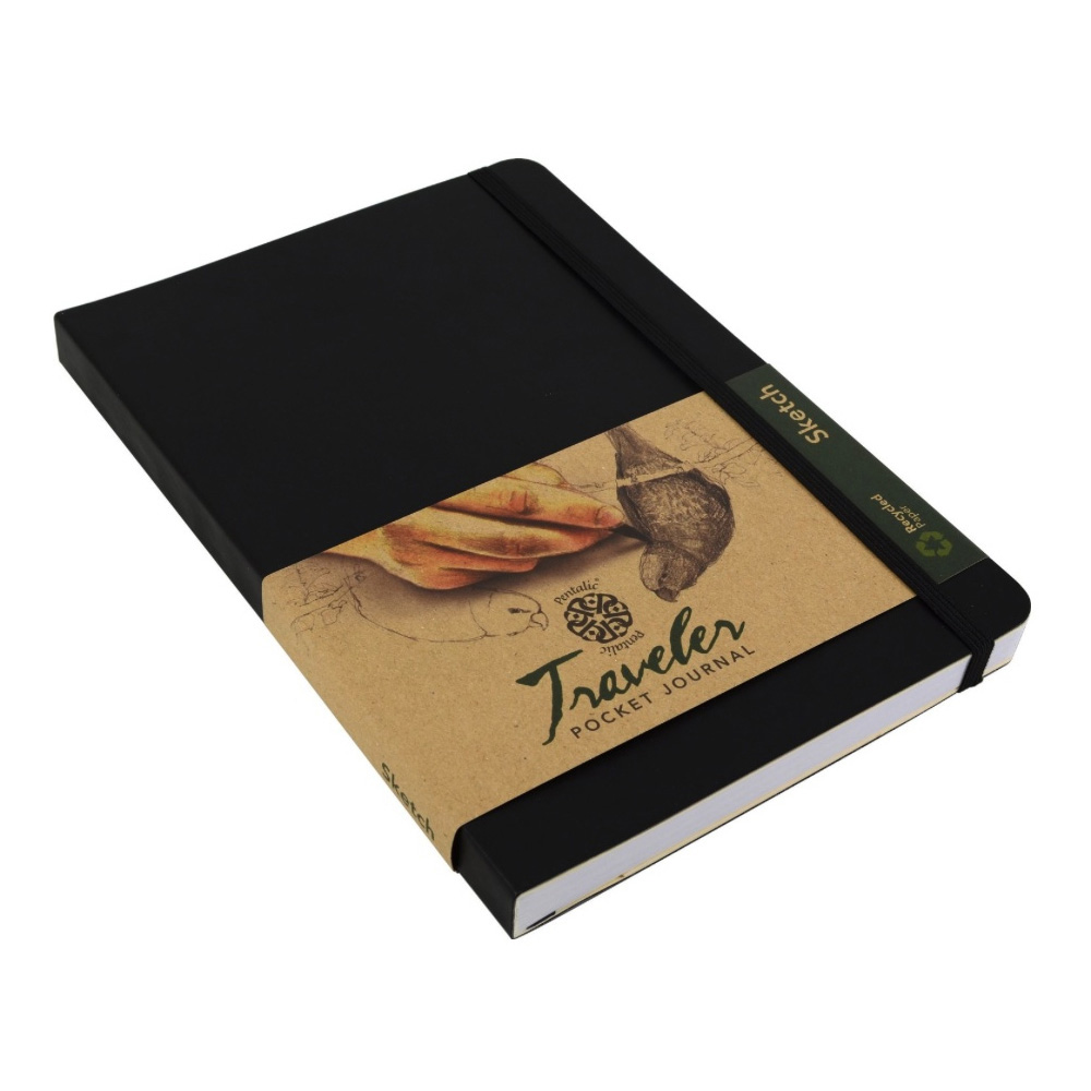 Travelers Recycled Sketch Book 6X8 Black